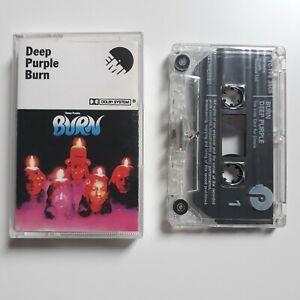 DEEP-PURPLE-BURN-CASSETTE-TAPE-EMI-PURPLE-UK-1974