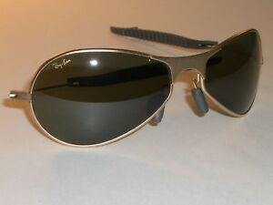 e346fa8dd4 VINTAGE B L RAY BAN W2374 MATTE GOLD G15 AIR BOSS ORBS WRAP AVIATOR ...