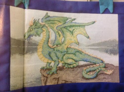 C Winged Wonder Fantasy Dragon Cross Stitch Chart