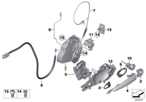 BMW Genuine Front Left Door Lock Catch Latch Unit RHD 51217202145