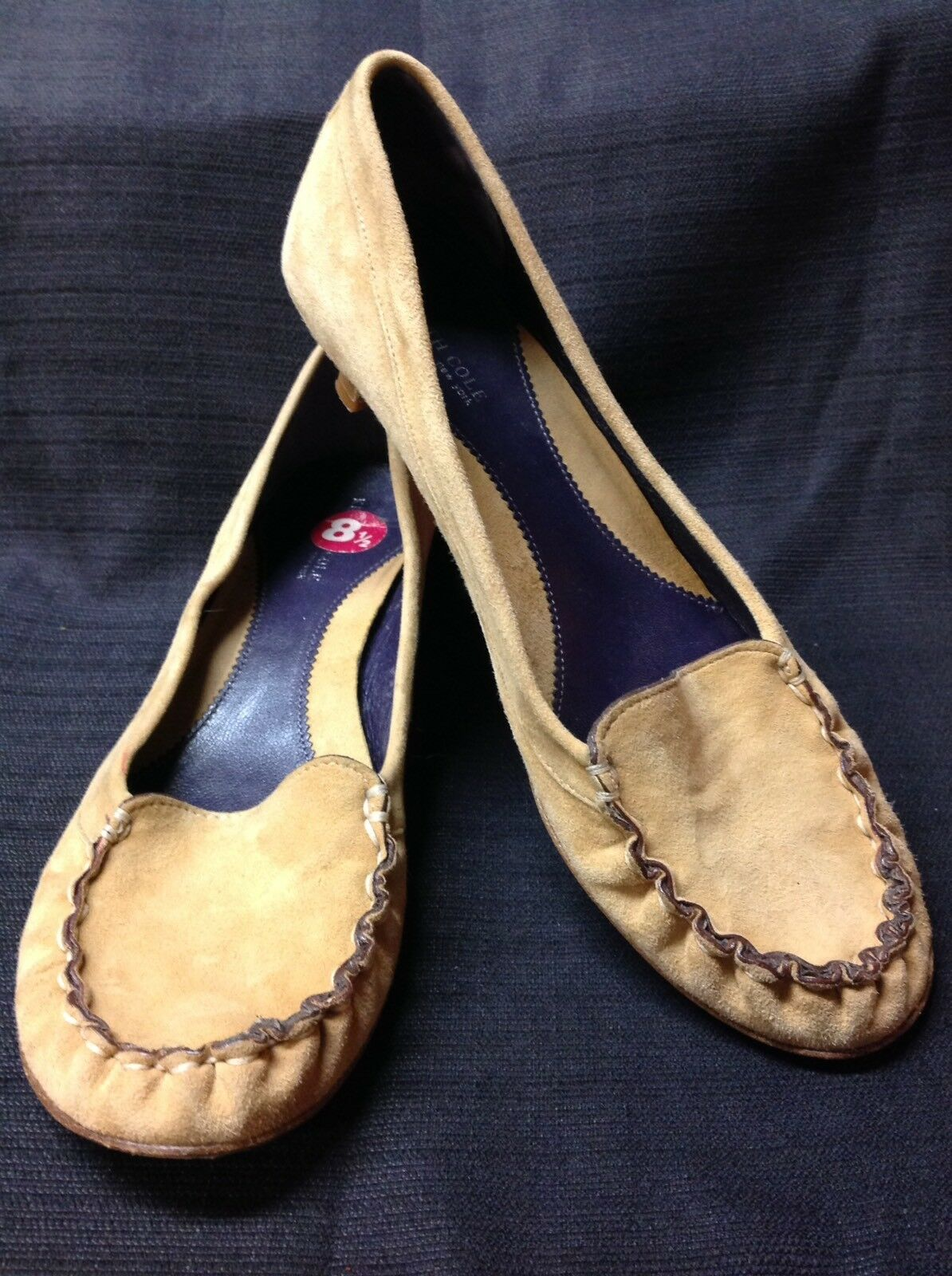 womens cole 8 1/2 M kenneth cole womens leather SUEDE MOC shoes pump heels e5fdc7
