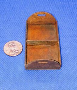 Casa-de-Munecas-Miniatura-Handmade-Bandeja-Caddie-Marron-1-12-Escala