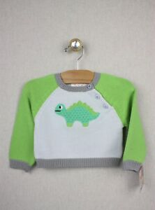 084acf4e4a20 NEW Zubels Hand-crafted Dinosaur Sweater 9 months Boys Knit