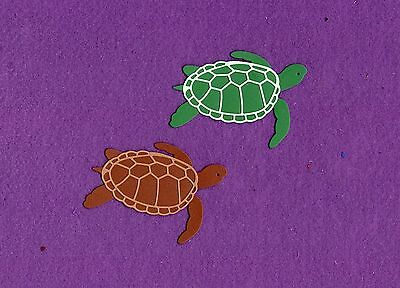 SEA TURTLE die cuts scrapbook cards