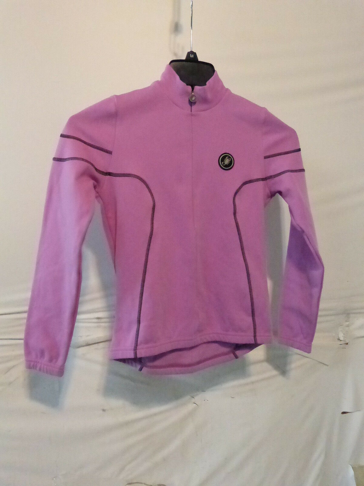 Castelli Women's purplec Full Zip LS Cycling Jersey, Size Small