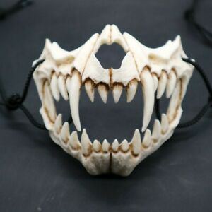2020 Cosplay Animals Skull Creepy Soft Latex Half Face Mask Halloween Party Prop
