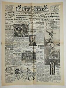 N659-La-Une-Du-Journal-Le-petit-Parisien-5-aout-1936-jeux-de-la-XI-olympiade