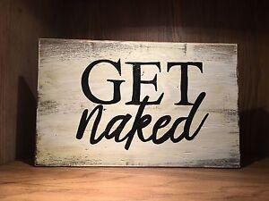 Bathroom sign decor