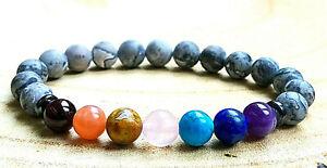 Men-Womens-Natural-Stone-7-Chakra-Healing-Reiki-Energy-Crystal-Gemstone-Bracelet