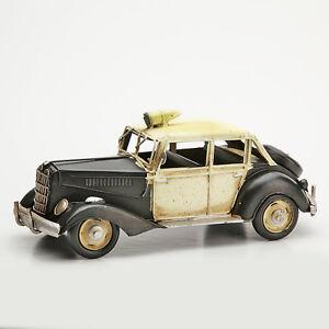 Blechmodell Nostalgisches altes Polizeiauto aus Chicago der 20er Jahre