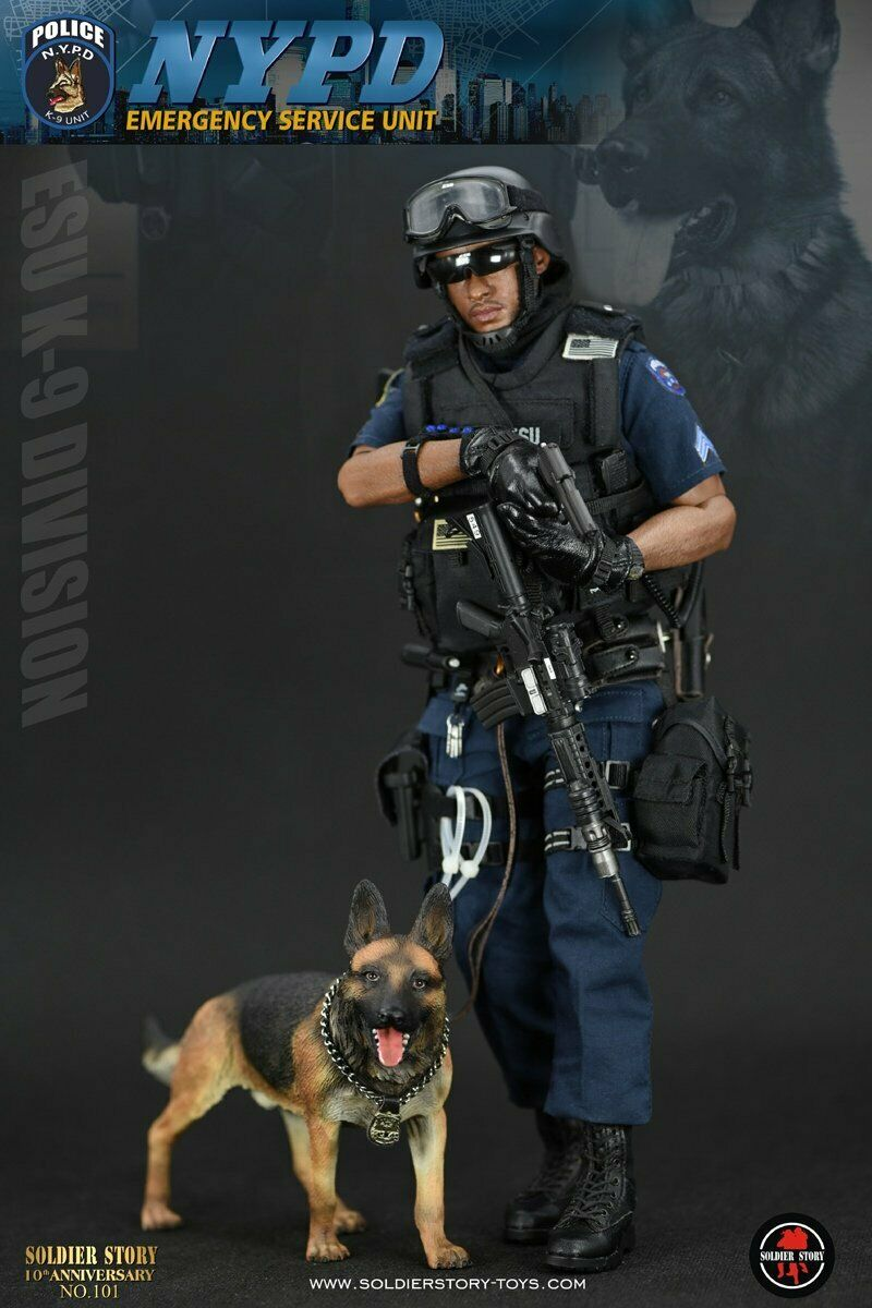 NYPD ESU K -9 DIVISION figuren 1 6 Soldier berättelse SS101
