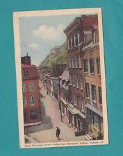 Little Champlain Street Quebec Canada Vintage Postcard 1940 PETITE RUE CHAMPLAIN