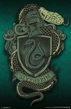 HARRY POTTER - SLYTHERIN SNAKE CREST POSTER - 22x34 - BOOKS 15081