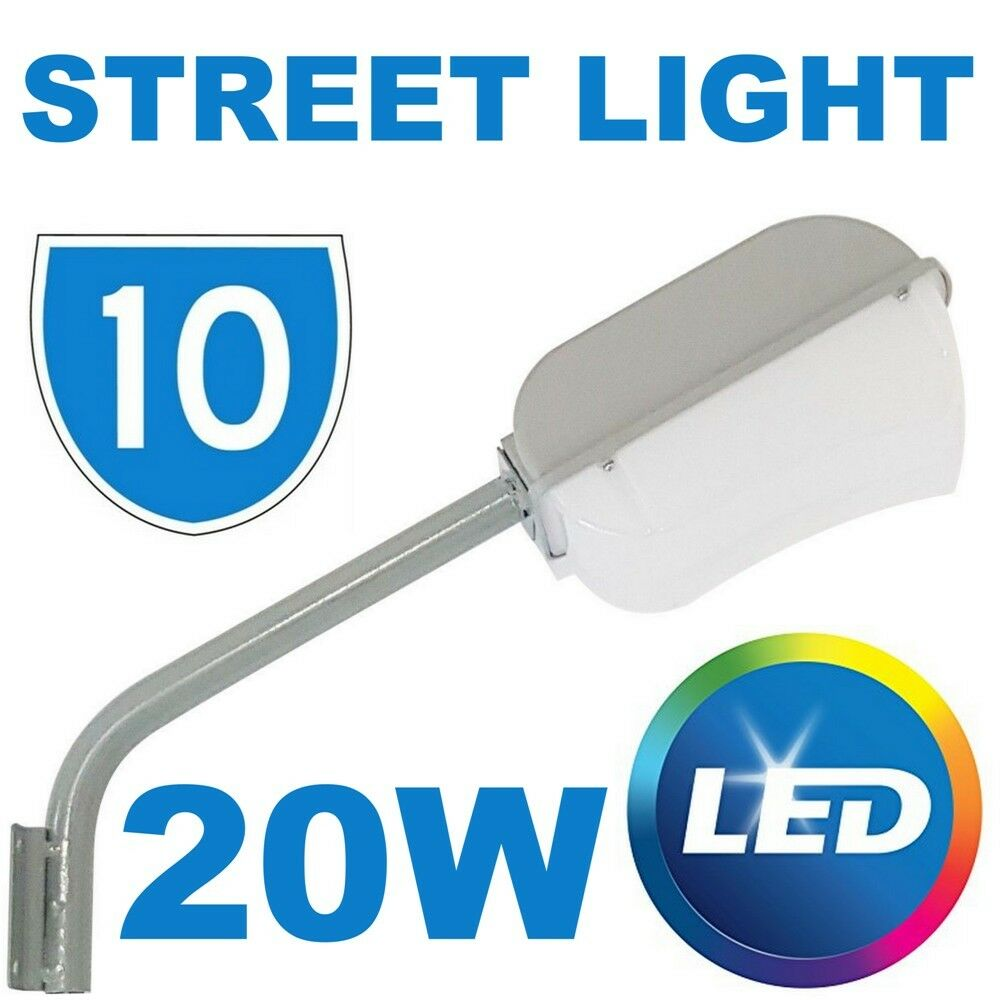 10x LED 20W Wall Outdoor Garden Patio Security Street Lamp Post Road Light IP65