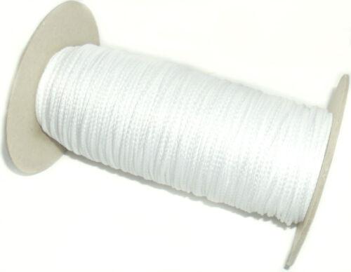3 Mm sintético de tuberías de Cable disponible en negro o blanco y diferentes longitudes
