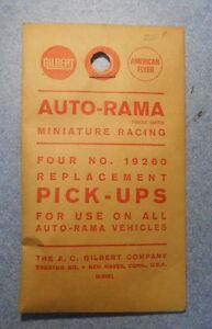 Vintage 1/32 Slot Car Gilbert Auto-Rama 19260 Replacement Pickups Sealed