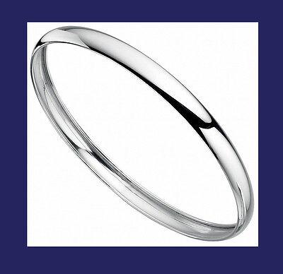 Schlussverkauf Bangle Plain Solid Silver Ladies Sterling Silver Verschiedene Stile
