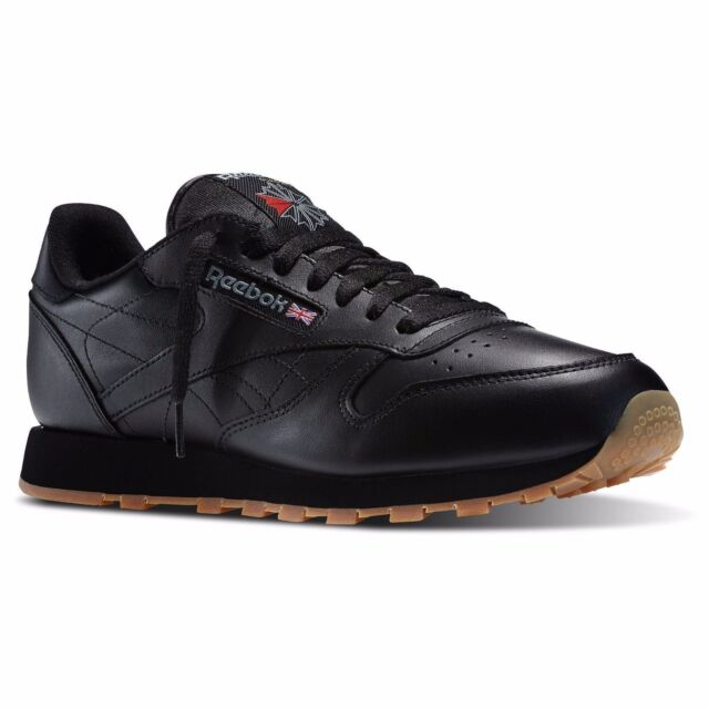 REEBOK CLASSIC LEATHER Black Gum 49798 MENS CLASSIC RUNNING SHOES