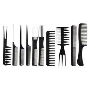 Details about 10pcs Hair Styling Combs Set Detangling Afro Hair Pick Lift  Haircutting Comb