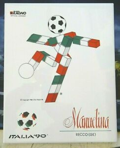 """RARA PIASTRELLA """" ITALIA '90 """" RISTORANTE MANUELINA di RECCO GENOVA - 1986 -"""
