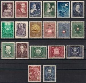 Osterreich-Jahrgang-1949-komplett-postfrisch-1A-Qualitaet-Katalogwert-284