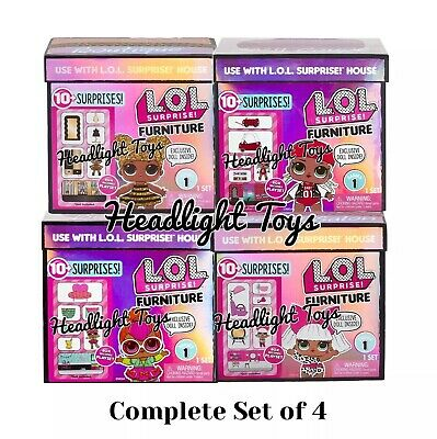 Dolls Bears 4 Lol Surprise Doll House Furniture Spaces Sets Bedroom Salon Boutique Coupe Bee Triadecont Com Br
