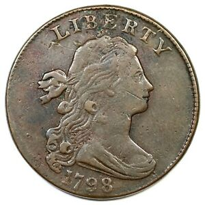 1798-S-176-R-4-Sm-8-2nd-Hair-Draped-Bust-Large-Cent-Coin-1c