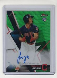 2018-Topps-Finest-Tommy-Pham-Green-Refractor-SP-Auto-039-d-12-99-Indians