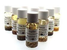 Full Set Of 10 Planetary Herbal Infused Botanical Incense Oils