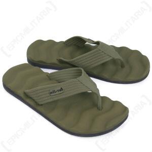 Flip-Flops-Olive-Green-Sandals-Beach-Summer-Outdoor-Footwear-All-Sizes-Sun-New