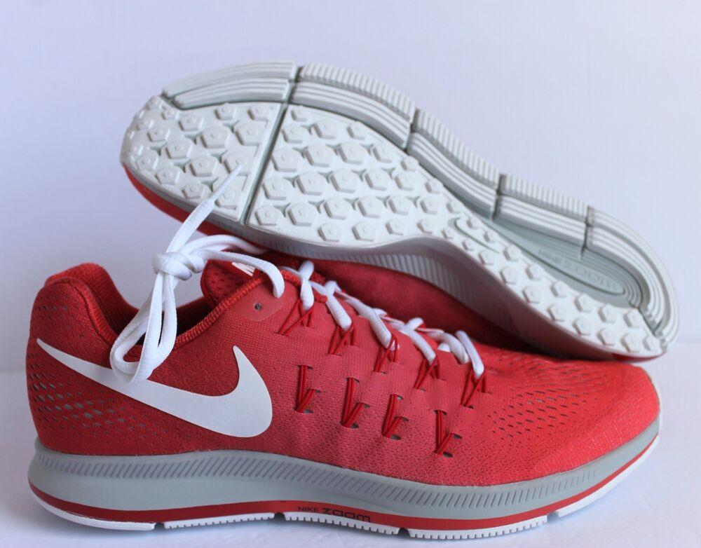 Nike Men Zoom Pegasus  33 iD Red-Grey-Blanc Homme  Pegasus Chaussures de sport pour hommes et femmes 6e6db5