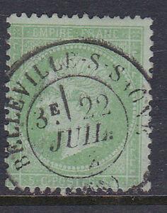 FRANCE-1871-N-35-5CT-VERT-PALE-S-BLEU-OBLITERE-EN-TB-230-A355