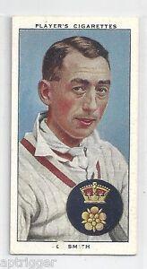 1938 John Player & Sons (25) D. SMITH Derbyshire & England