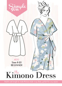 Womens-The-Simple-Sew-Kimono-Dress-UK-SIZES-8-20-Ladies-Sewing-Pattern