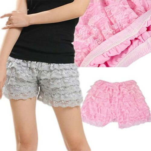 Tracolla 8 rossa Ladies Leggings in 1pair Shorts bianco Style Grigio pizzo viola rosa Summer Layers nero beige Sexy Rosa Pantaloni rosa Safety chiaro AA5q1wB