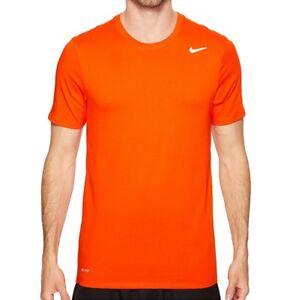 Nike-Men-039-s-Active-Shirt-Dri-Fit-Shirt-Base-Layer-Training-T-Shirt-Orange-XS