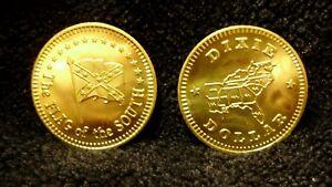 Flag-Of-The-South-Dixie-Dollar-Token-Souvenir-Lucky-Rebel-Coin-Limited-Edition