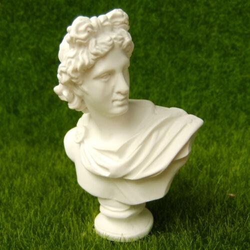 Bust Apollo Belvedere Leochares Sculpture Miniature Replica Reproduction Art Toy