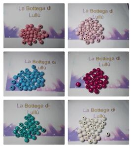 30 Perline In Legno Da 10mm Per Braccialetti , Catenelle Ciuccio, Collanine Baby Les Consommateurs D'Abord