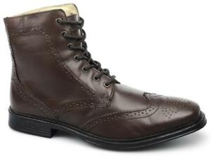 Boots Brogue cincel cuero Toe Derby Hombre Cotswold Comfy Willersey marrón acolchado w4Sxqn6aT
