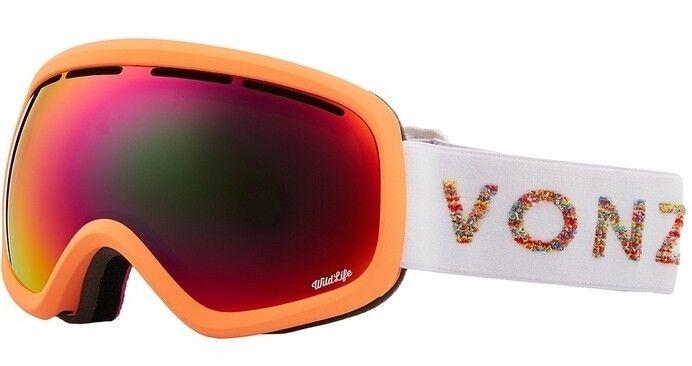 NEW VonZipper Skylab Coral Wildlife Womens Ski Snowboard Goggles +lens Msrp