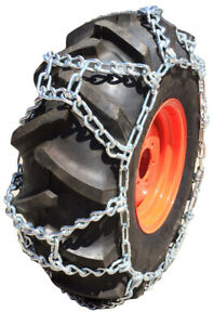 Snow Chains 14.9-24, 14.9 24 Duo Grip Tractor Tire Chains Set of 2