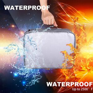 Waterproof Fireproof Document Bag Money Bag Pouch Envelope Fire Safe Cash  ↬