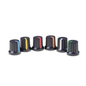 10x-Potentiometer-Switch-Knob-Cap-Hole-Dia-6mm-Volume-Control-Rotary-Knob-Cap
