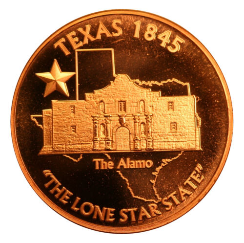 20 Texas ALAMO DESIGN Copper 1 oz Bullion Rounds .999 PURE NEW
