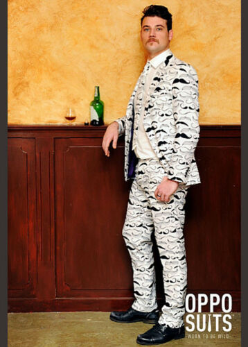 Adult Mens Moustache Pattern Oppo Suit Costume