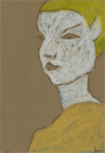 Ben Carrivick - Contemporary Pastel, Figure in Yellow Blouse