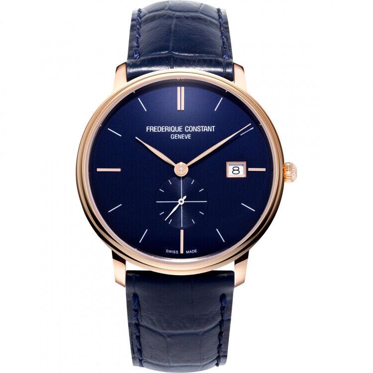 Frederique Constant Slimline Quartz Movement Blue Dial Unisex Watches FC-245N5S4 | Ebay