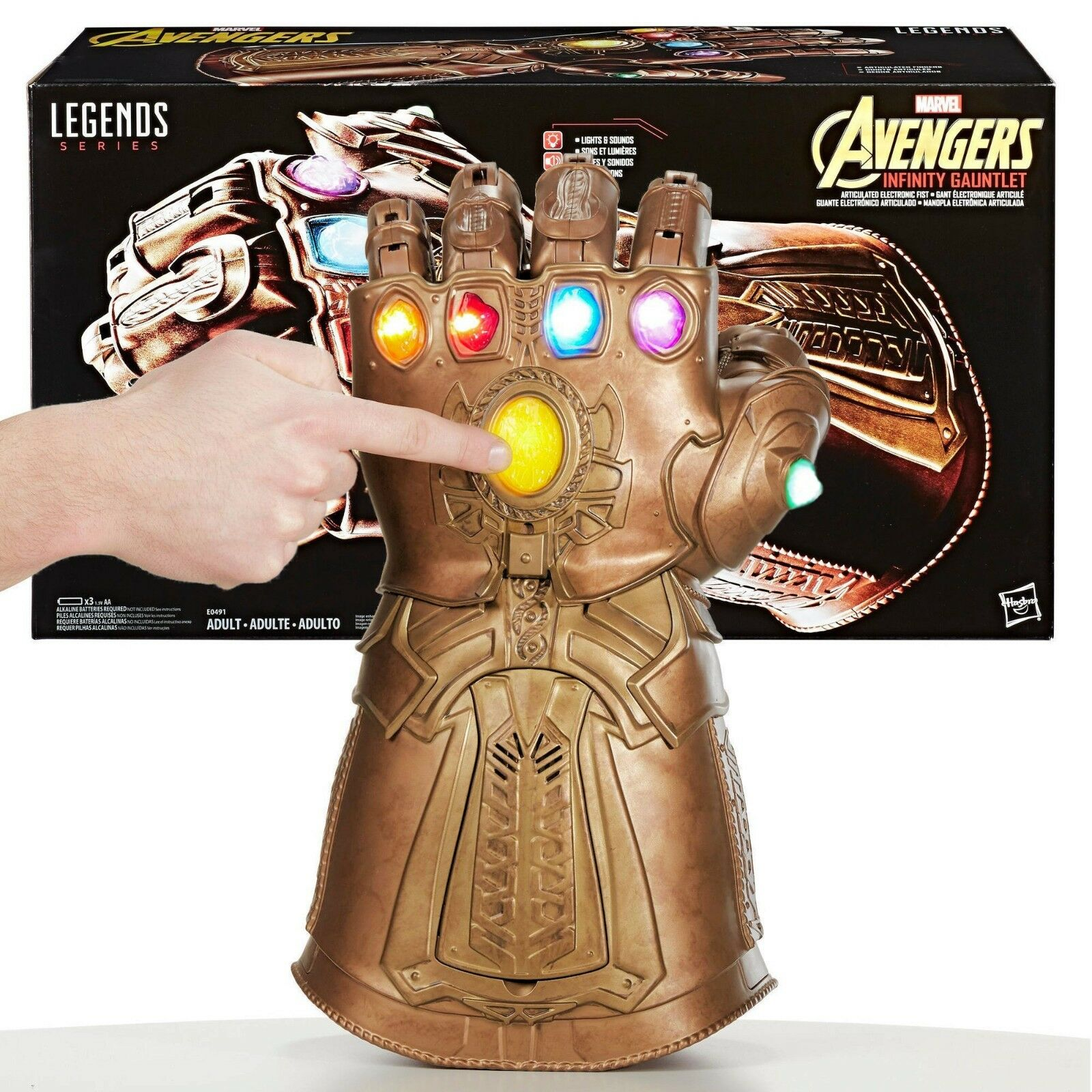 Thanos Infinity Gauntlet articulé électronique poing Marvel legends avengers NEW IN BOX