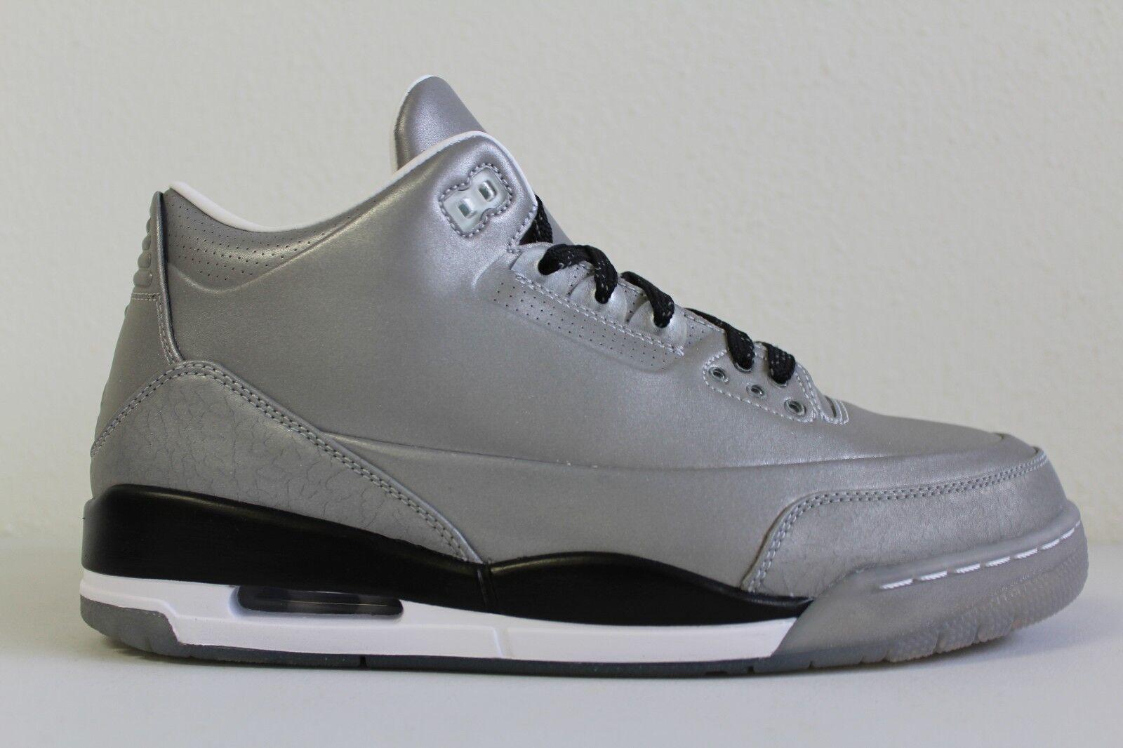 Nike Mens Air Jordan III 3 Retro 5LAB3 SILVER 3M Reflective 631603 003 Size 9.5